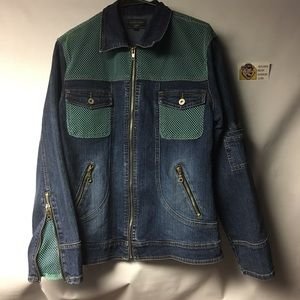 Vintage 90's Denim and Mesh Jacket